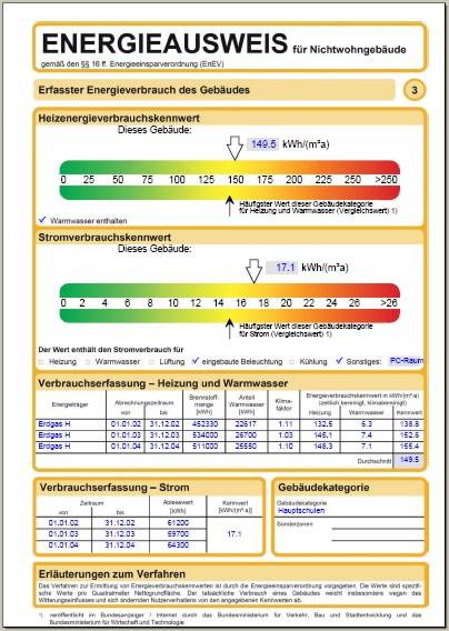 Verbrauchsorientierter energieausweis